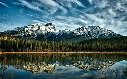Canada Nature Trees Mountain Landscape Reflection Tree