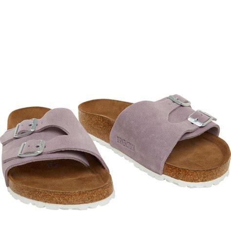 birkenstock damen vaduz suede soft footbed sandalen flieder