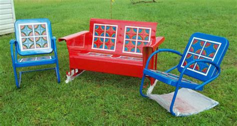 vintage metal gliders fashioned metal chairs and retro