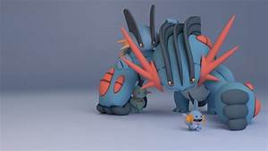 Mudkip, Marshstomp, Swampert, and Mega Swampert wallpaper ...