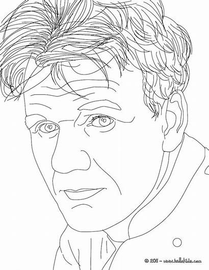 Gordon Ramsay Coloring Pages Famous Sheets Hellokids