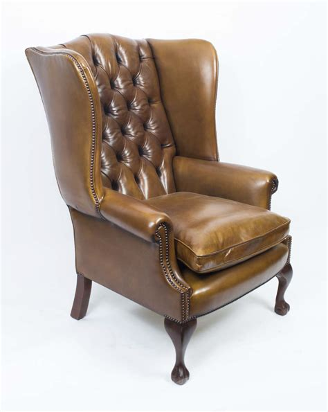 wing chair item number leather chippendale wing back chair armchair yellow
