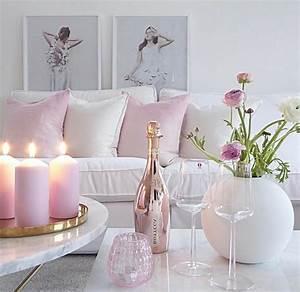Salon Gris Et Rose : emejing idee deco salon rose et gris pictures amazing house design ~ Preciouscoupons.com Idées de Décoration