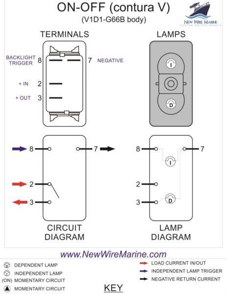 Aerator Illuminated Rocker Switch Contura Backlit