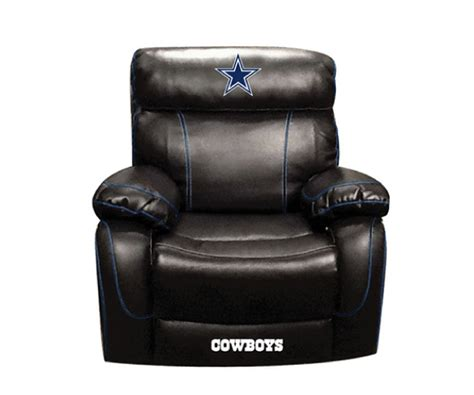 nfl dallas cowboy ch bonded leather rocker recliner chair