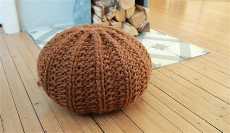 Knitted Ottoman by 18 Knit Pouf Patterns Guide Patterns