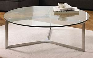 Circle glass coffee table coffee table design ideas for Glass top circle coffee table