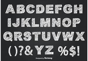 chalkboard style alphabet welovesolo With blackboard with white letters