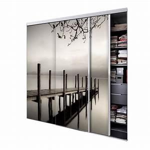 Porte Coulissante Placard Miroir : tixelia porte de placard coulissante jetee 3 vantaux ~ Melissatoandfro.com Idées de Décoration