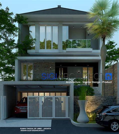desain rumah modern minimalis  lantai lantai mezanin