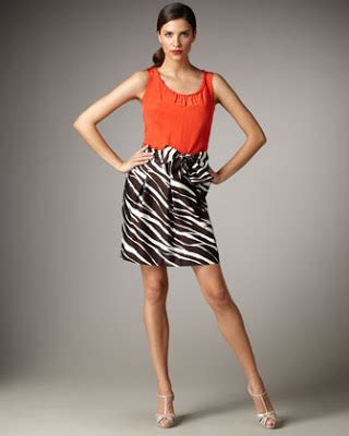 Style Notebook Kate Spade Zebra-print Skirt with Bright Top