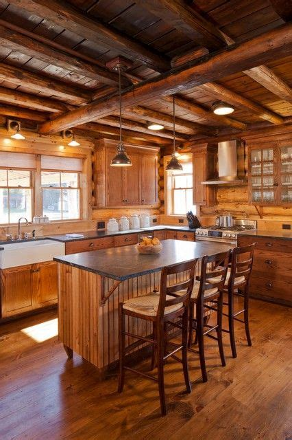 log cabin kitchen lighting ideas beautiful woodsy rustic kitchen swiss chalet style