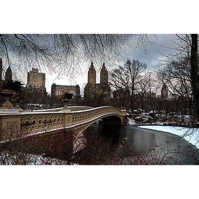Central Park Bow Bridge In Snow » Mark Garbowski