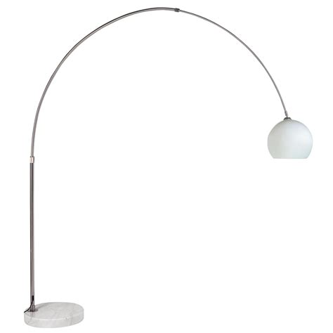 curved floor light with glass shade dwell