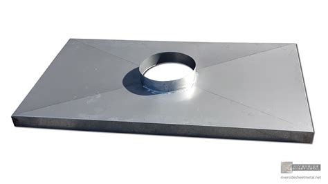 counter top sale stainless steel flat chimney cap with flue and x bend