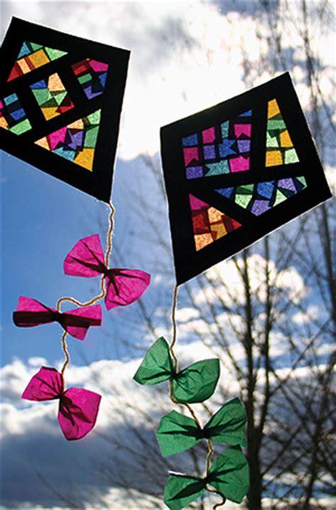 window kite craft fun family crafts
