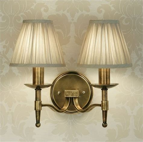 antique brass wall light single or double