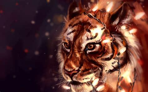 wallpaper tiger artwork hd creative graphics