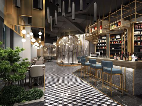3D Luxury Cafe 01 | CGTrader