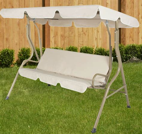 backyard swing outdoor 2 person beige canopy swing hammock seat backyard
