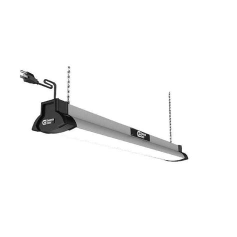 Led Shop Lights by Commercial Electric 42 In Brushed Nickel Bright White Led