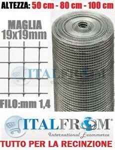 rete elettrosaldata zincata per gabbie 25mt rotolo rete metallica zincata elettrosaldata19x19