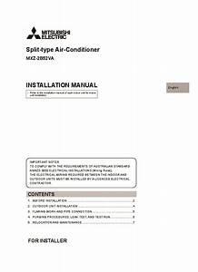 Mitsubishi Mr Slim Mxz 2b52va Air Conditioner Installation