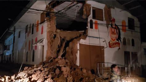 powerful  magnitude earthquake strikes north central