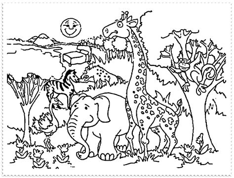 coloring pages zoo coloring page  vocal