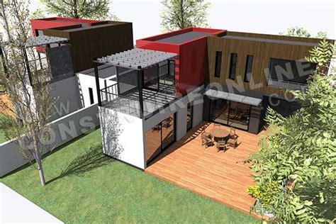 bureau modulaire interieur plan de maison contemporaine modulo 1
