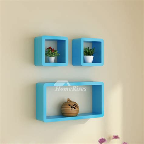 White Shelves On Wall by Modern Wall Shelves White Pink Blue Wooden Wall Mounted