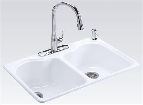 Kohler Hartland Sink Weight by Kohler K 5818 4 0 Hartland Self Kitchen Sink With