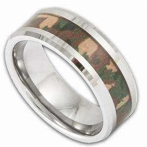 Men39s tungsten woodland camouflage wedding ring shop for Tungsten camo wedding rings
