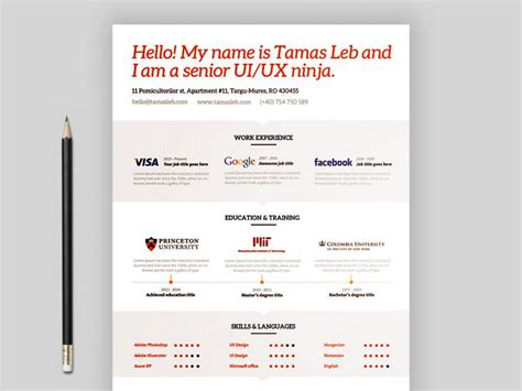 Visual Resume Templates Free by Free Visual Resume Template Multi File Format Maxresumes