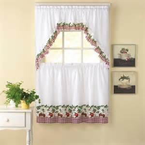 chf you apple blossom kitchen curtains set of 2