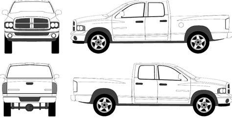 dodge ram  crew pickup truck blueprints