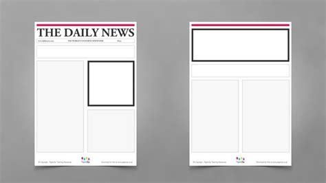 blank newspaper template blank newspaper templates paperzip