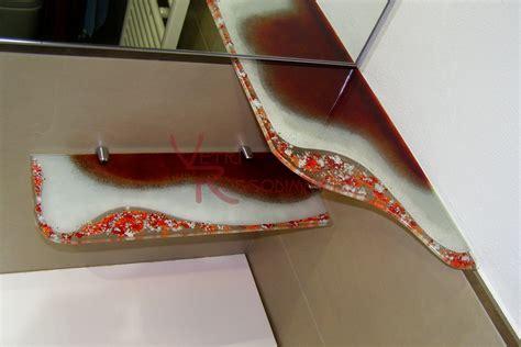 mensole vetro bagno vetrofusione vetri rossodimarte