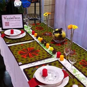 Chemin De Table Design : parures de table avec du wax waxindeco ankara table set mat with wax placemat with ~ Teatrodelosmanantiales.com Idées de Décoration