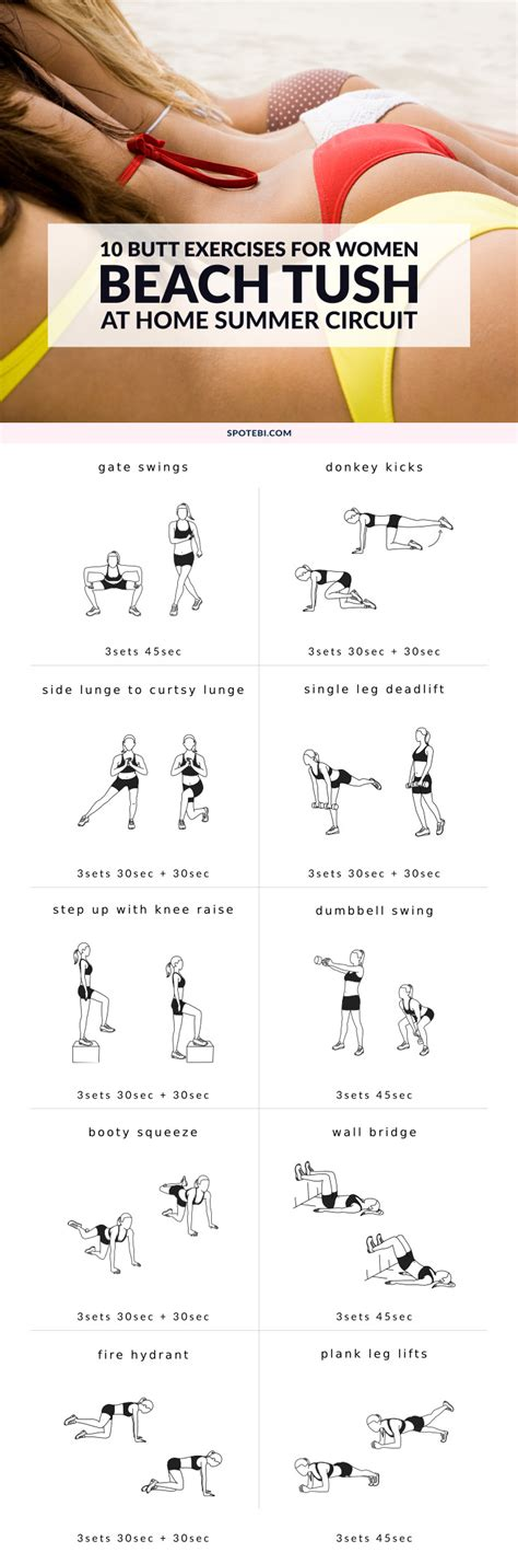 10 Butt Exercises To A Beach Ready Tush