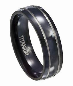 black titanium wedding ring for men silver accent bands 7mm With black titanium wedding rings for men