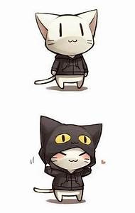 chibi girls images Cats wearing a hoodie wallpaper and ...