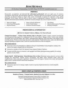 Free law enforcement resume example writing resume for Law enforcement resume template
