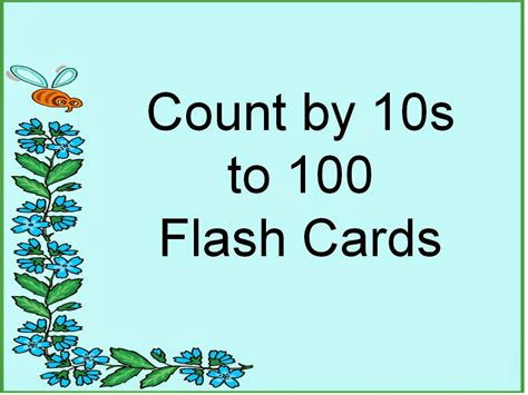 Student Survive 2 Thrive Skip Count By 10s To 100 Flash Cards