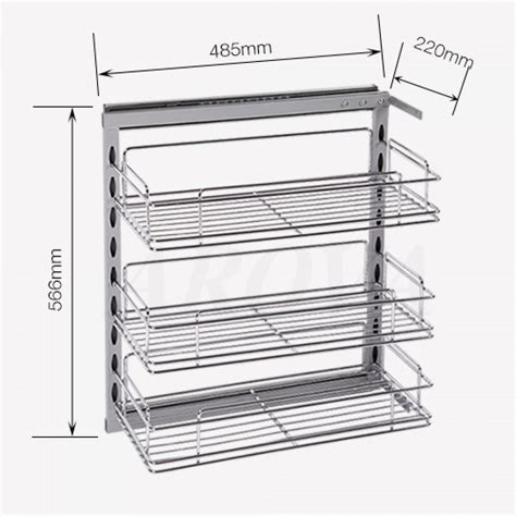 pull out baskets for kitchen cabinets pull out pantry chrome basket for base cabinet organizers