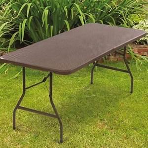 Table Pliante D Appoint : table pliante d 39 appoint effet r sine tress e marron 180 cm ~ Melissatoandfro.com Idées de Décoration