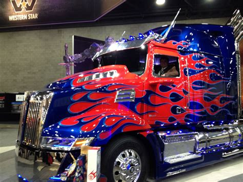photo gallery western star optimus prime  mid america