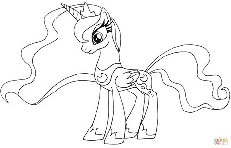 pony princess luna coloring pages coloring home