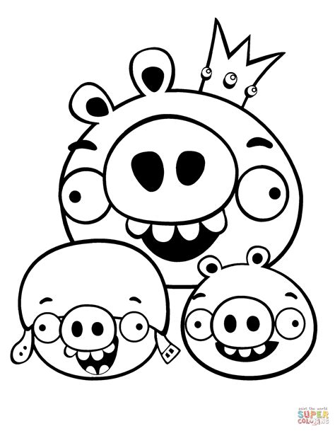 Kleurplaat Angry Birds Pig by Angry Birds Go Coloring Pages Minion Pig 101 Clip