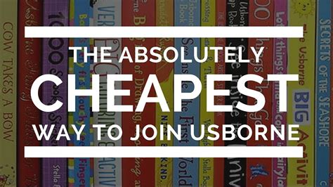 The Cheapest Way To Join Usborne Books Youtube